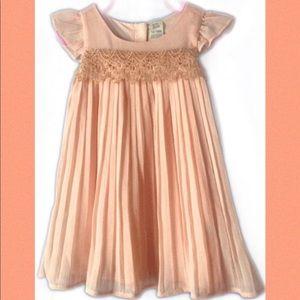 Oshkosh Peach & Gold Toddler Dress